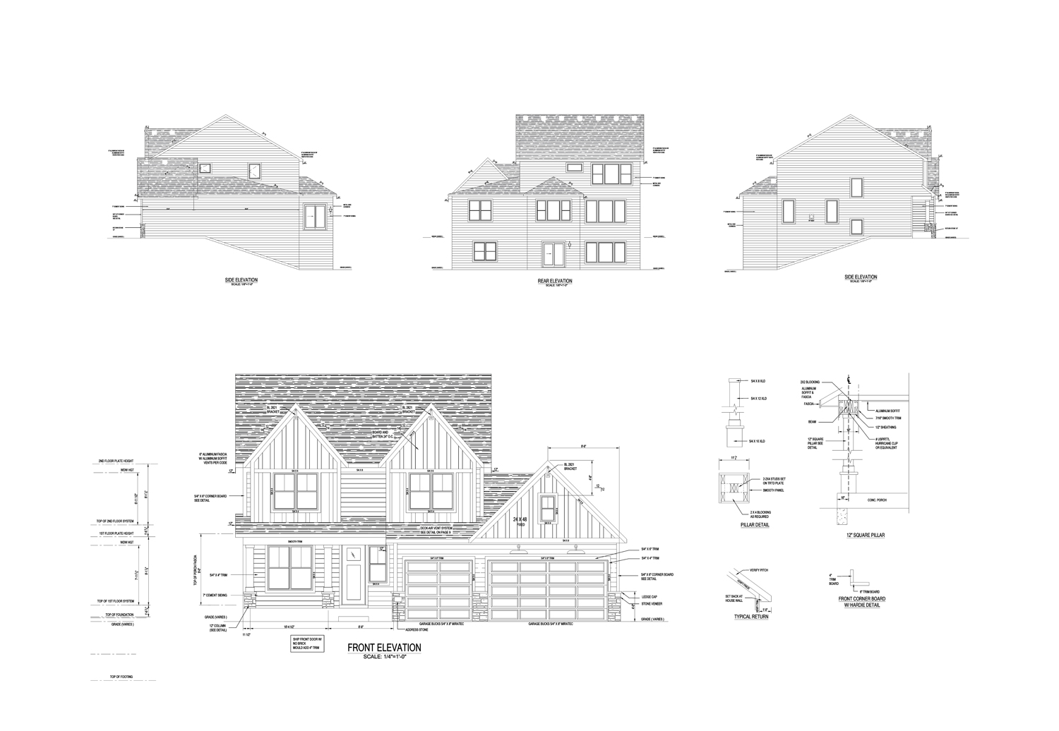 Architectural Construction Drawings | Floor Plan Drawings